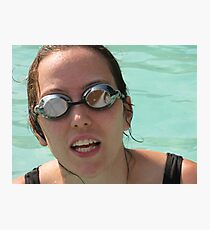 Pool goggles Photographic Print