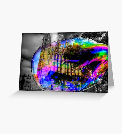 Basilica in a Bubble Greeting Card