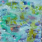 Lily Pond Abstract 2 by HeavenSpirit Creations