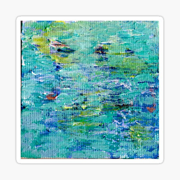Lily Pond Abstract 3 Sticker