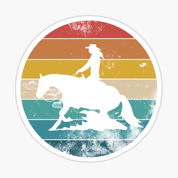 Arrêt de glisse Western Riding Gift Sticker