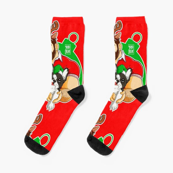 XMAS - ADAM LIKES FRENCHIES - FOR RED TEE Socks