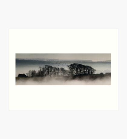 Trees above the Mist (Original Version) Art Print