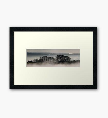 Trees above the Mist (Original Version) Framed Print