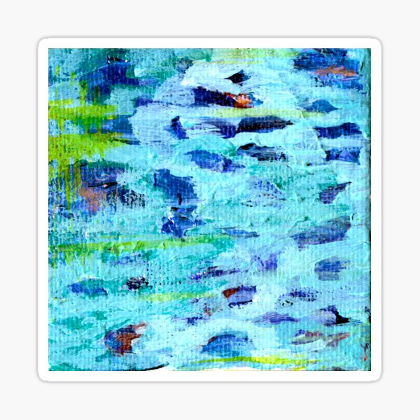 Lily Pond Abstract 5 Sticker