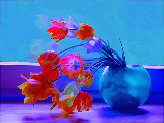 Midnight Tulips by rosalin