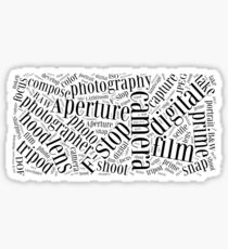 Photography Word Cloud Sticker