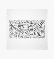 Photography Word Cloud Scarf