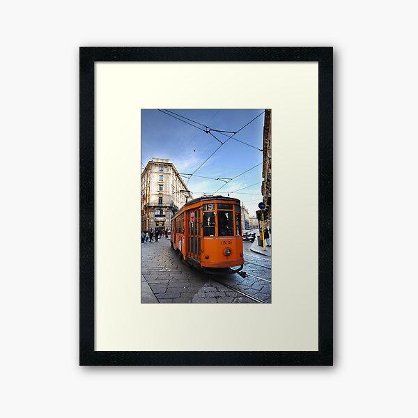 Tram in Milan Framed Art Print