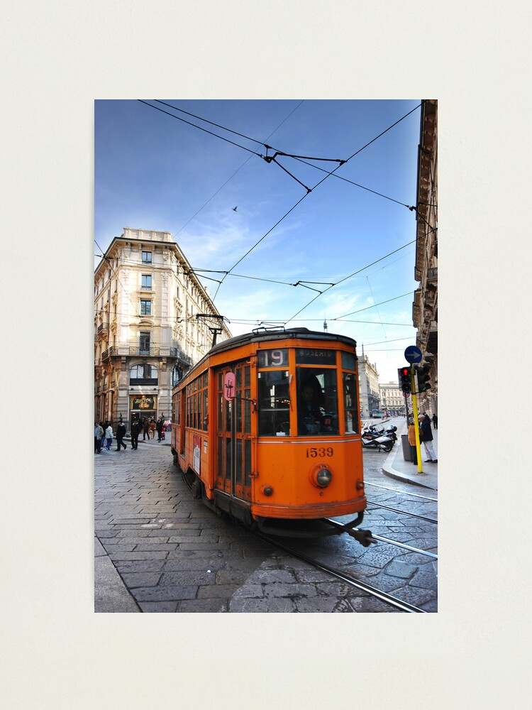Alternate view of Tram in Milan Photographic Print