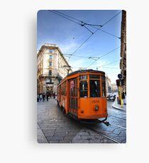 Tram in Milan Canvas Print