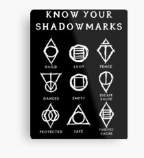 Know Your Shadowmarks (Light) Metal Print