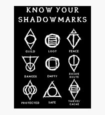 Know Your Shadowmarks (Light) Photographic Print