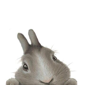 Curious Little Bunny by dapplegreyart