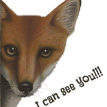 I can see you (dark text) by dapplegreyart