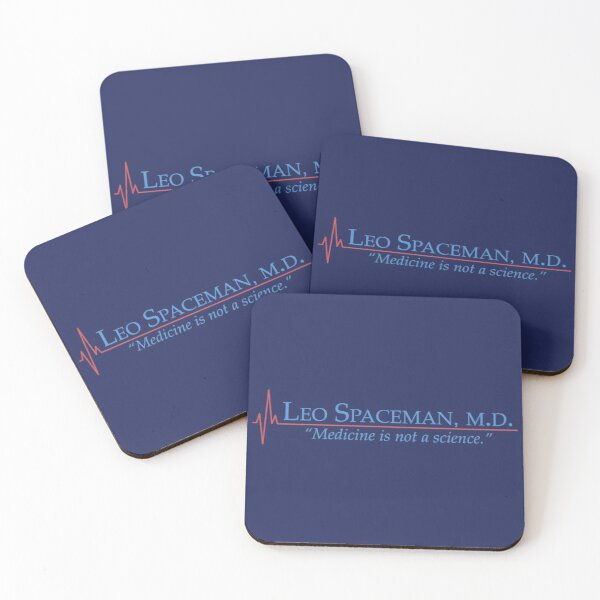 Dr Spaceman - Medicine is Not a Science - 30 Rock Coasters (Set of 4)