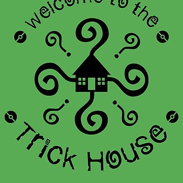 Trick House - Circular (in Black) by MagentaBlimp