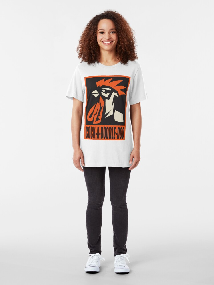 Alternate view of revolutionary rooster Slim Fit T-Shirt
