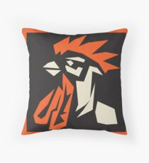 revolutionary rooster Throw Pillow