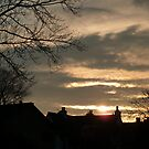 Sunset over Garstang.  by Lilian Marshall