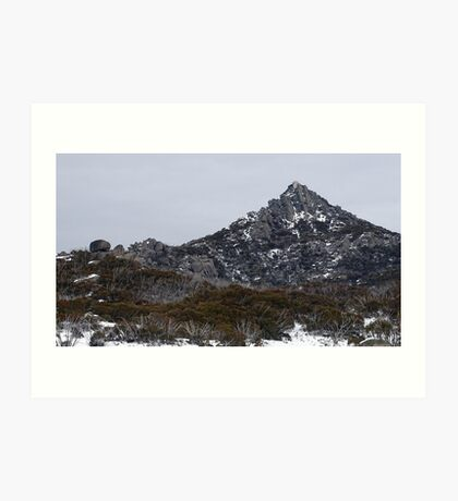 The Horn in the snow Art Print