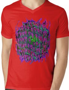Vortex to hell Purple and green and red Mens V-Neck T-Shirt