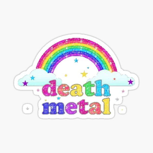 Rainbow Death Metal Sticker