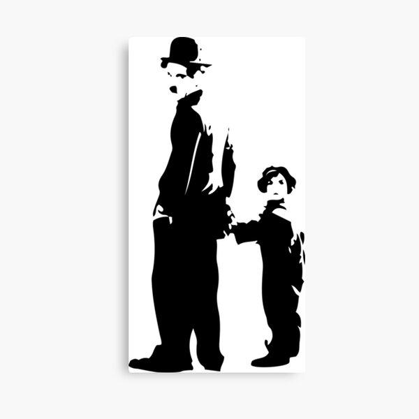 Charlie Chaplin - The Kid 1921 - Obra de arte para la pared, pósters, impresiones, camisetas, bolsos, hombres, mujeres, niños Lienzo