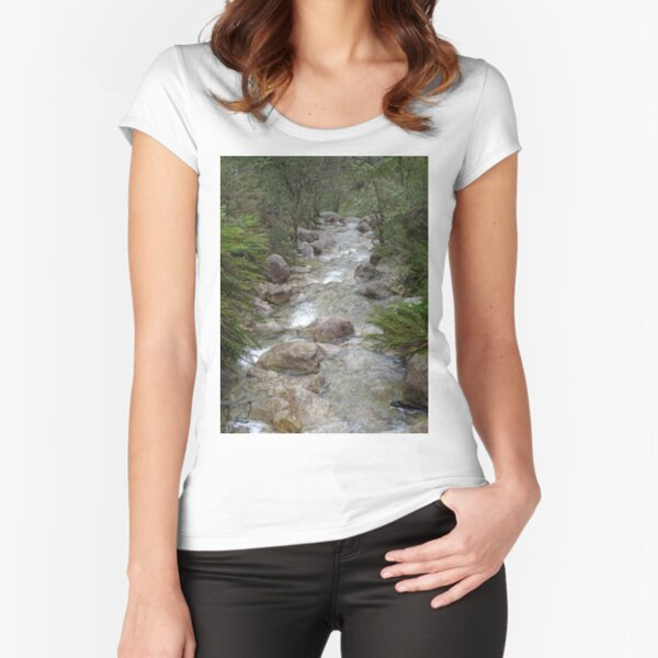 Mountain stream Fitted Scoop T-Shirt