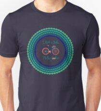 I ride a bike! (Blue Version) Unisex T-Shirt