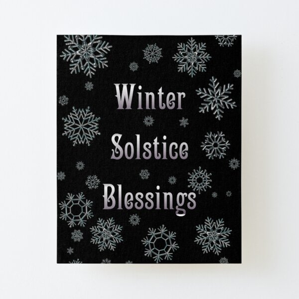 Winter Solstice Blessings Canvas Mounted Print