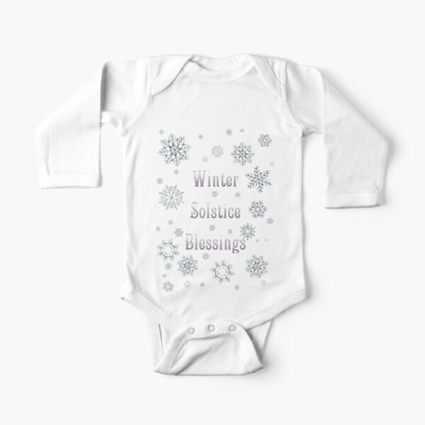 Winter Solstice Blessings Long Sleeve Baby One-Piece