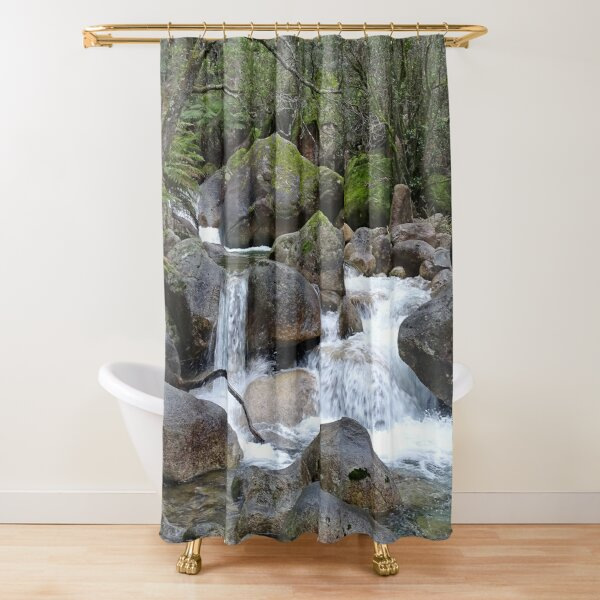Stream and falls Shower Curtain