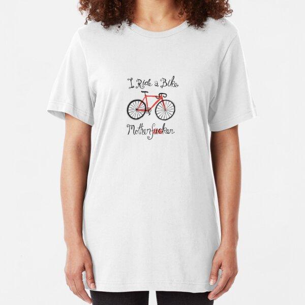 I ride a bike! (Mono Version) Slim Fit T-Shirt