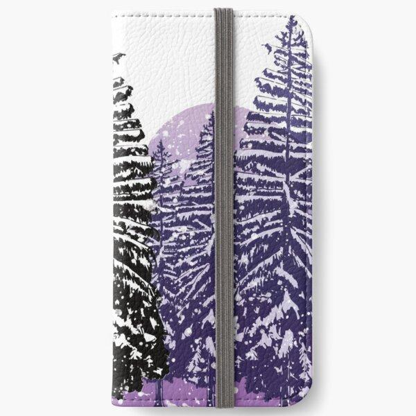 Snowy Pines iPhone Wallet