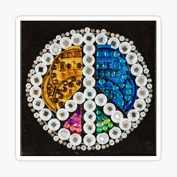 PEACE Recycled Eco Art Sticker