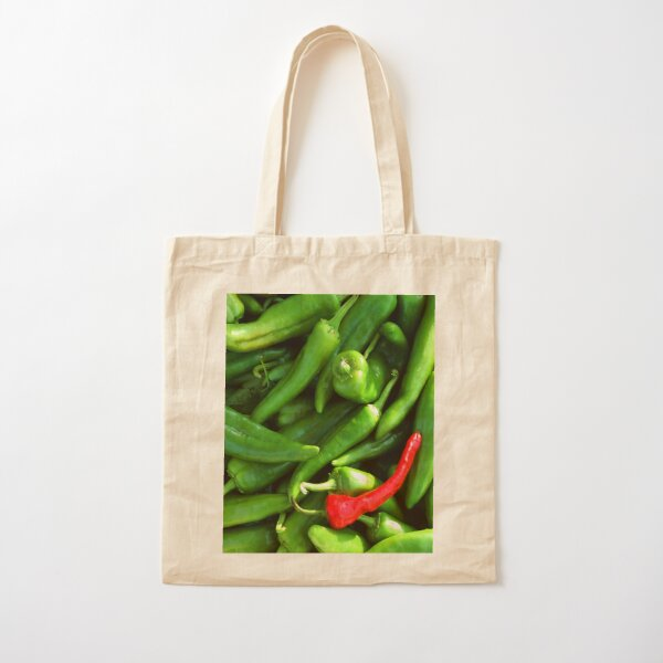 Red or Green Cotton Tote Bag
