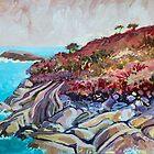 Seaside landscape, oil by Roz McQuillan