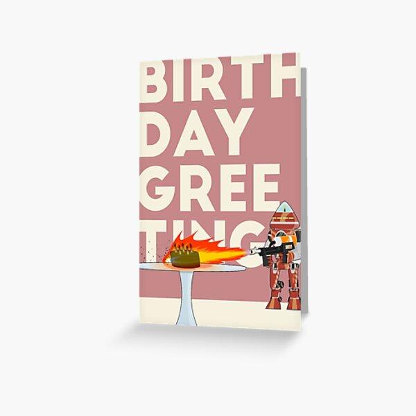 Robot Cake Greeting Card