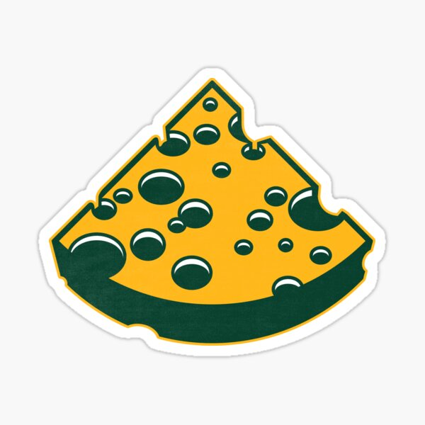 Green Bay Packers Cheesehead Design Sticker