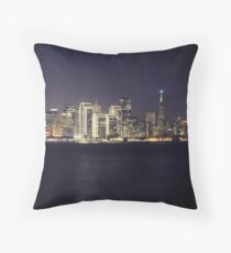 San Francisco Holiday Skyline II Throw Pillow