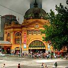 Flinder's Street Station by Christine Smith