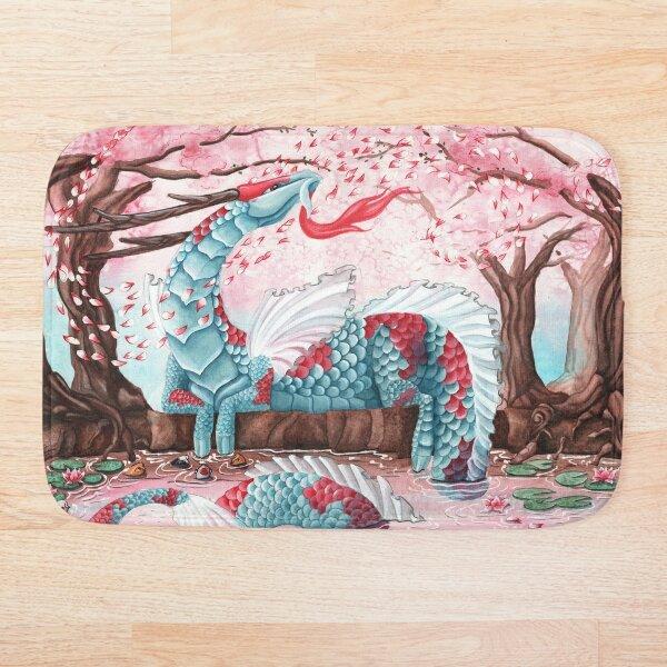 Cherry Blossom Breeze by Carla Morrow Bath Mat