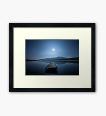 Moon over Lough Aubha Framed Print