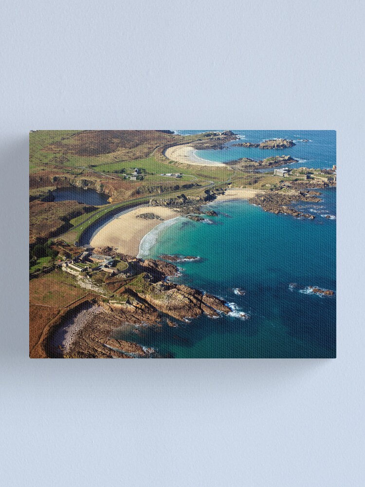 Alternate view of Corblet's Beach - Alderney Canvas Print