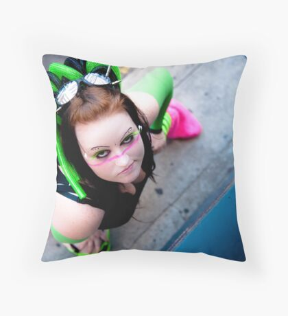 Mind that cheek... Throw Pillow