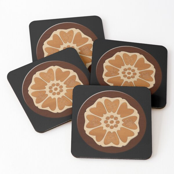 Order of the White Lotus Coasters (Set of 4)