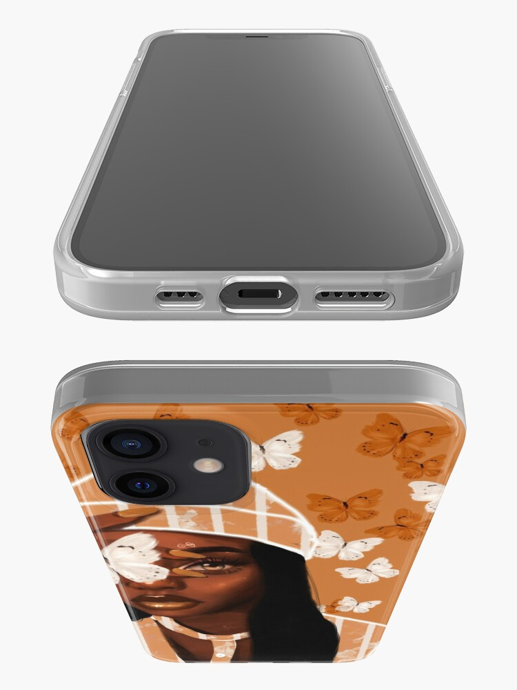 Alternate view of Faded, orange and white butterfly, portrait iPhone Case & Cover