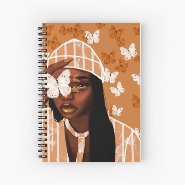 Faded, orange and white butterfly, portrait Spiral Notebook