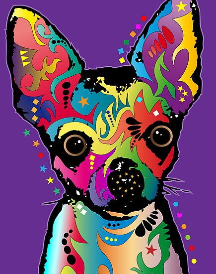 Chihuahua Art by Michael Tompsett